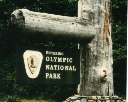 Olympic National Park entrance sign