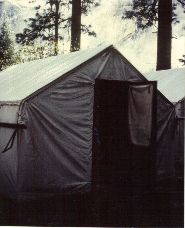 Our unheated tent cabin at Curry Village