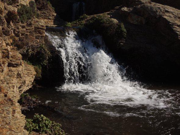 Upper middle falls