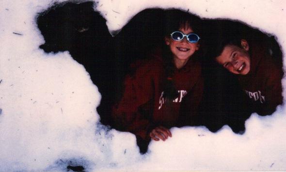 Lassen Springtime 1998 - snow cave