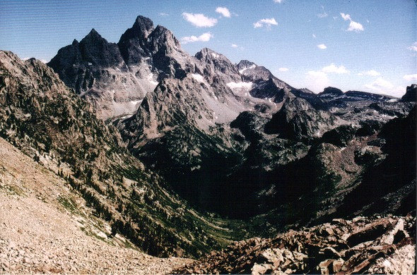 Tetons - Paintbrush Divide - view south