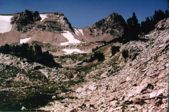 Tetons - Paintbrush Divide - view up