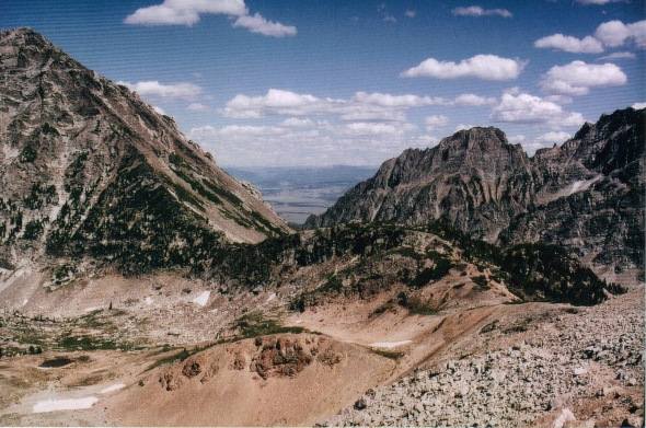 Tetons - Paintbrush Divide - view