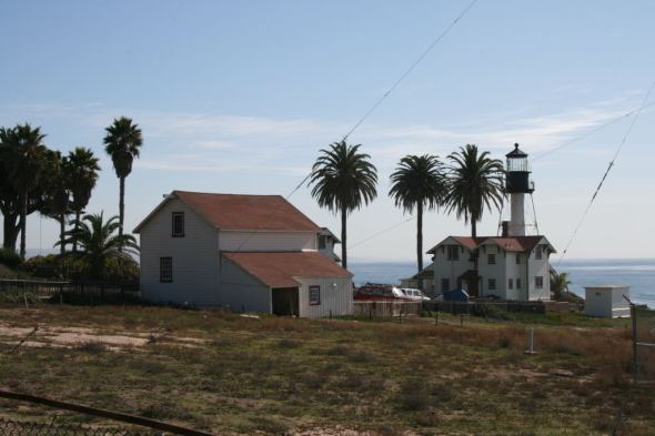 "Keepers' quarters and ""new"" Point Loma Lighthouse"