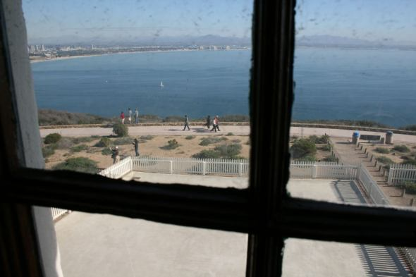 View from inside Old Point Loma Lighthouse