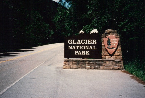 Glacier 1997 Park Entrance sign