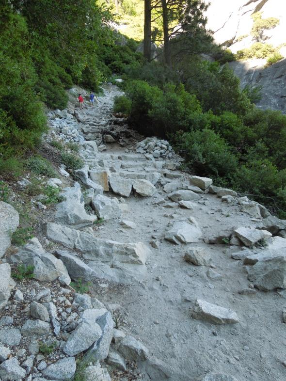 Yosemite Falls trail shade