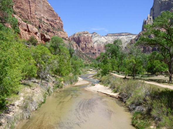 Virgin River in Zion Canyon