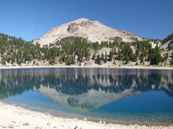 Lassen Peak reflected in Lake Helen